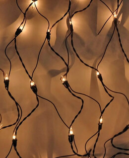 Net Lights Clear 150 ct | Brown Wire 2ft x 8ft