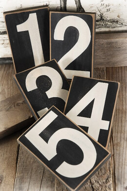 "Numbers 1-5 Wood Blocks 4.25"" x 6.5"""