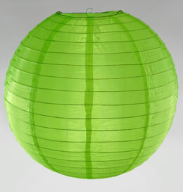"18"" LIME GREEN Nylon Paper Lanterns"