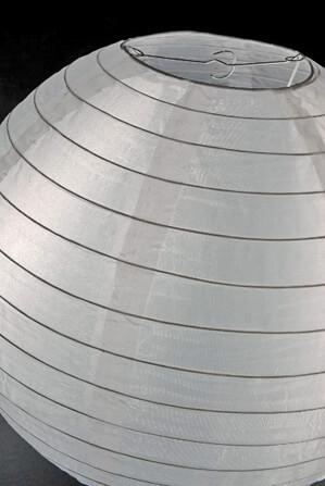 "16""  WHITE Nylon Paper Lanterns Wedding Lanterns"