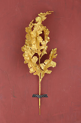 Oak Leaf Spray Gold 20in