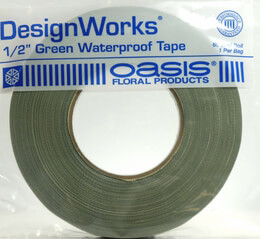 Oasis Green Waterproof Tape  1/2'' X 60 Yard Green Wet Foam Tape