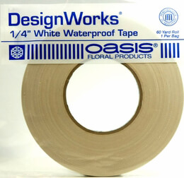 Oasis White Waterproof Floral Tape 1/4in x 60yds