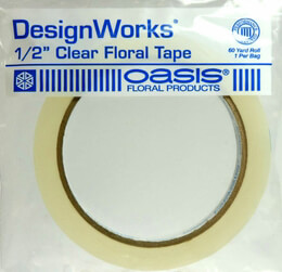 Floral Tape Clear Water Resistant .5in