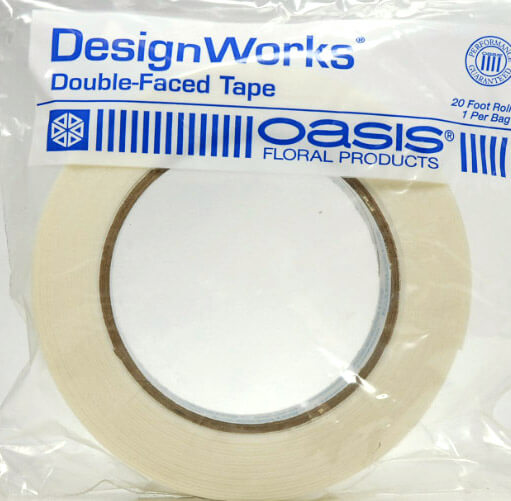 "Oasis Double Faced Waterproof White Floral Tape 1"" x 20'"