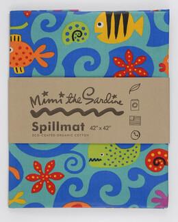 """Ocean Spill Mat 42"""" x 42"""" Mimi the Sardine (formaldehyde-free)"""