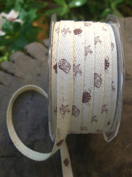 Ribbon Shell Print 3/8in x 27 yards