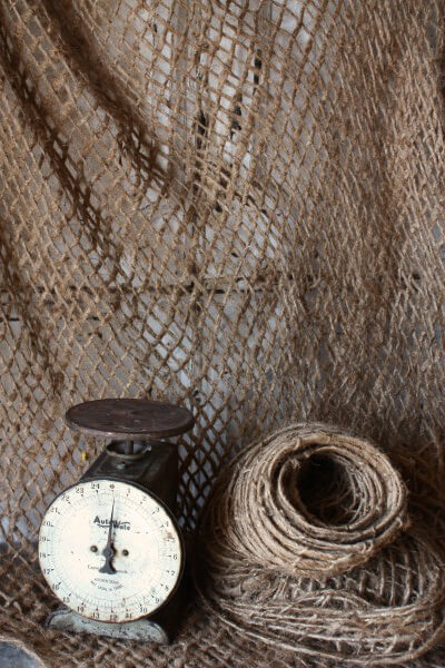 "Open Weave Natural Burlap 5 yards Netting 47"" width"