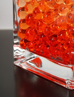 Liquid Vase Gems Jumbo Orange