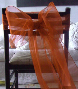 Orange Organza Chair Sashes (Pack of 10)