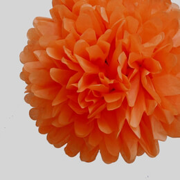 "Tissue Paper Pom Poms 20"" Orange (Pack of 4)"