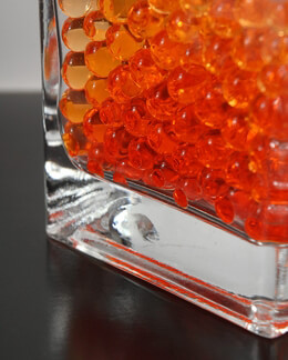 Liquid Vase Gems Orange