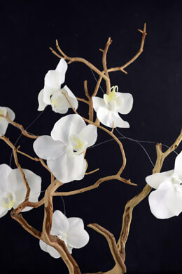 Silk White Orchid Garland 6ft 10 Orchids