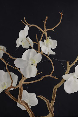 Phalaenopsis Orchid Garland Cream 6ft