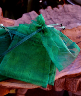 Organza Bags Hunter Green 3x4 (12 bags /pkg)