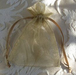 Organza Favor Bags Gold | Pack of 10