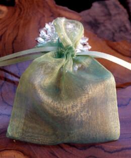 "Organza Drawstring Bags Celadon & Yellow 3"" x 4"" (24 bags)"
