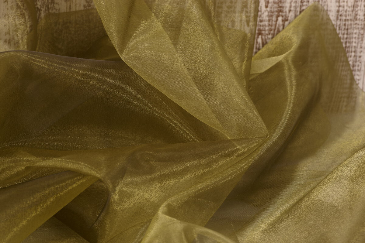Organza Fabric Two Tone Black & Green 9ft