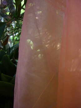 Organza Fabric Iridescent Peach & Pink 9ft