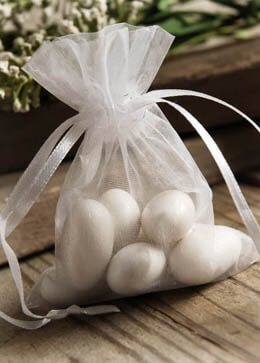 Organza Favor Bags White 3x4 (Pack of 10)