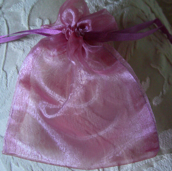 Organza Favor Bags Pink & Purple Two Tone 4 X 5.5 (24 bags)