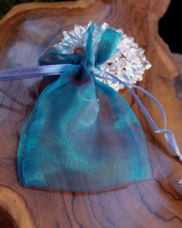 "Organza Favor Bags Turquoise & Burgundy 3"" x 4"" (24 bags)"