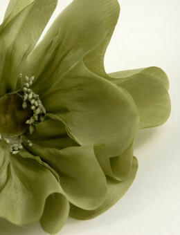 Artificial Poppy Organza Green