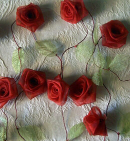 Rose Garland Red Organza