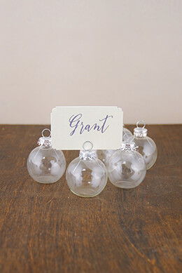 Ornament Place Card Holder 1.5in (Set of 6)