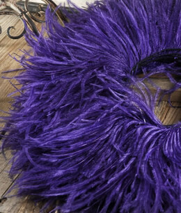 Ostrich Feather Fringe Purple - 5yds