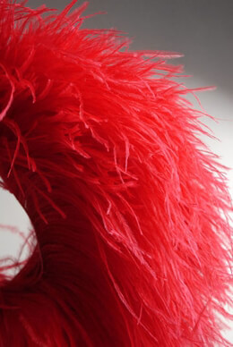 "Ostrich Feathers Trims Red 7"" x 5-1/2 yards /5 meters"