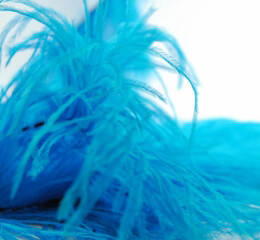 "Ostrich Feathers Trims Turquoise 7"" x 5 yards"