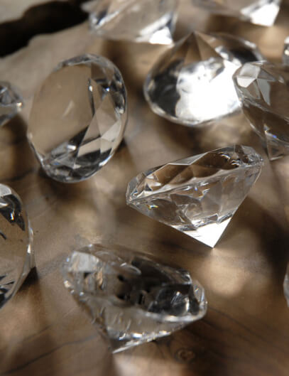 David Tutera Faceted Acrylic Diamonds, 1.5-Inch, Clear, 12 Per Pack