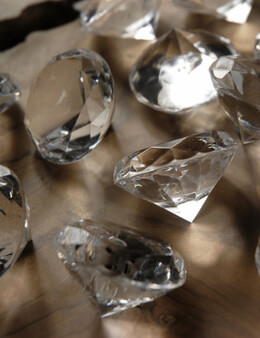 "Package of Diamonds 1.5"" (12 diamonds/pkg ) Acrylic"