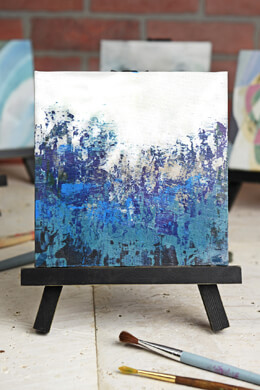 Beth Kushnick Mini Easel with Blue Forest Canvas