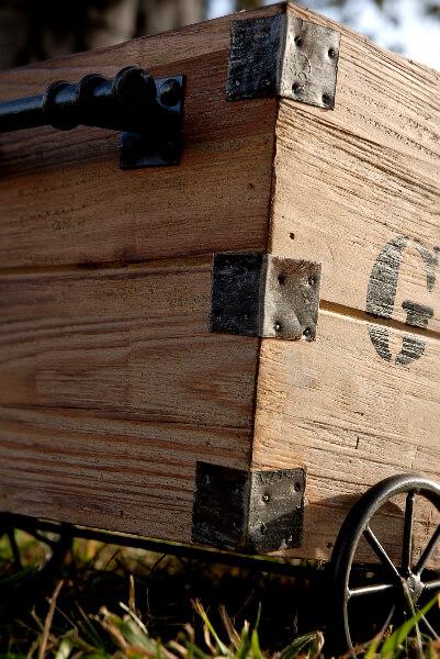 Wood Crate on Wheels