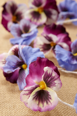 Handwrapped Silk Pansy Garland 5.5ft