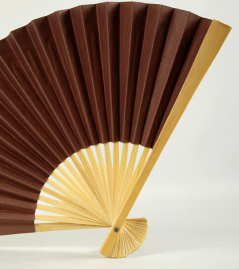 Paper Bamboo Fans Paper Fan Brown