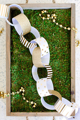 Paper Chain Garland Gold  (30 pieces)
