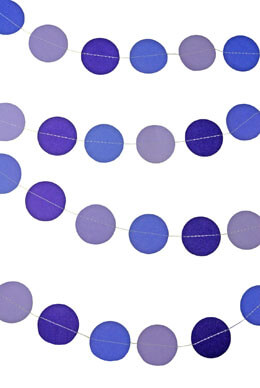 Paper Circle Garland Purple Mix 10ft