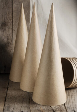 Paper Mache Cones Large