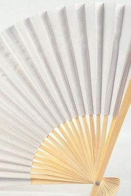 "12 White 10"" Paper Folding Fans"