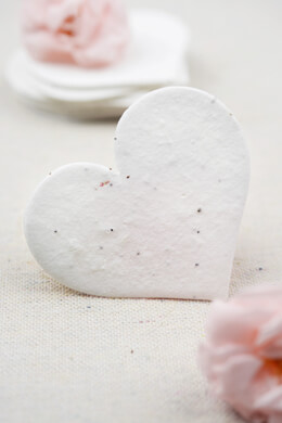 Handmade Seeded Paper Hearts 2.5in 24 pieces