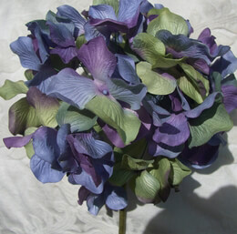 Paper hydrangeas Blue Purple Green