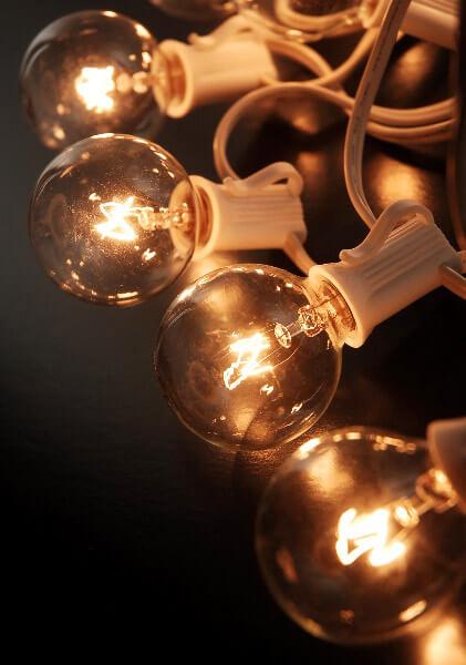 Paper Lantern Lights G40 C7 Bulbs 25ft