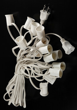Paper Lantern Lights 15 Sockets | White Cord 30ft