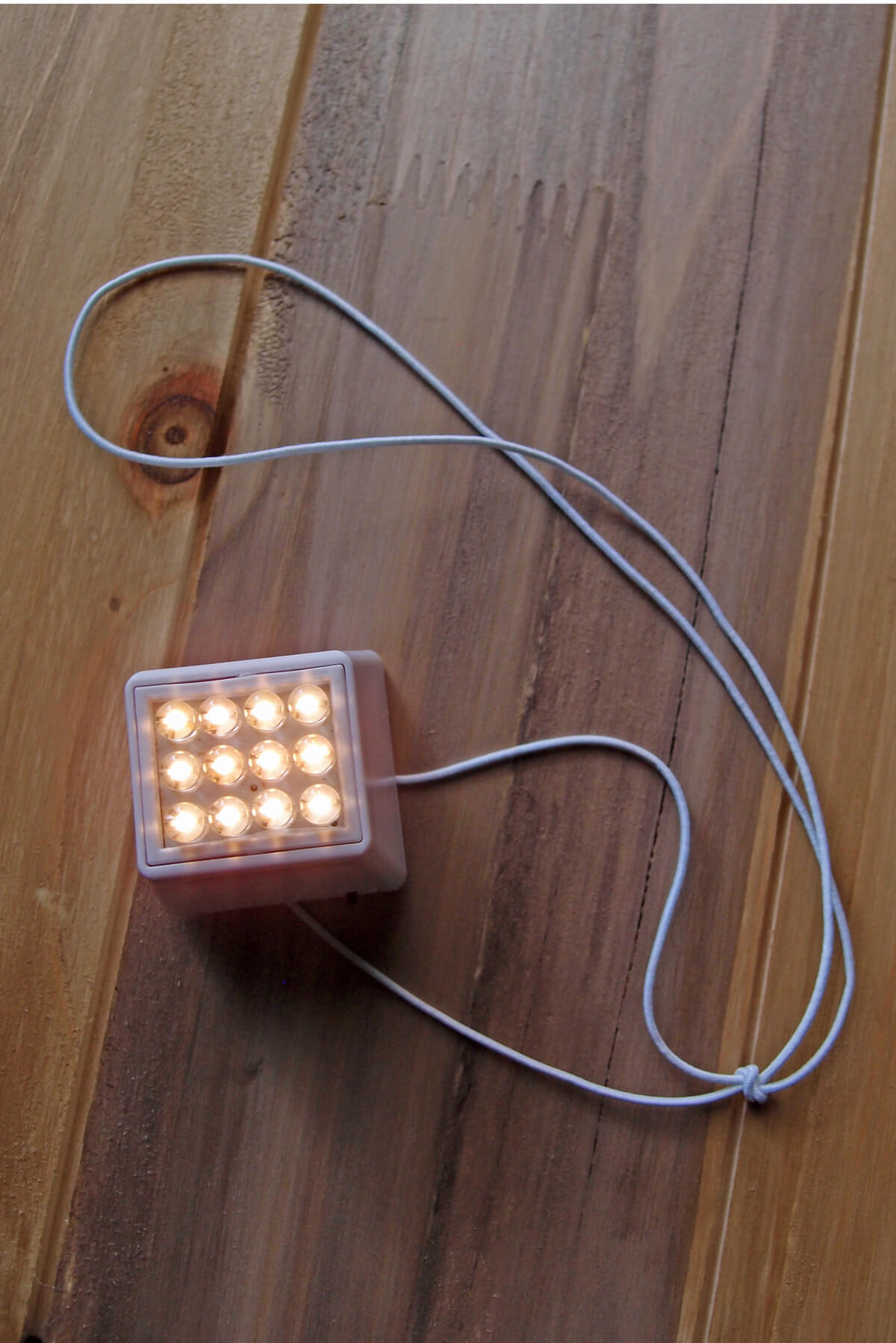 Paper Lantern Lights Cube 12 LED  Light Terminal For Lanterns