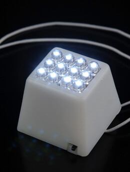Paper Lantern Lights Cube 12 LED Fantado  Light Terminal For Lanterns