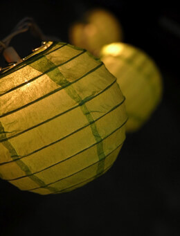 Paper Lanterns Green (String of 10)