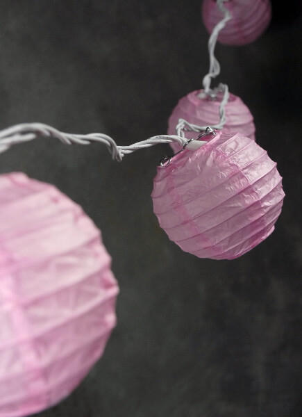 Paper Lantern Party String Lights | Pink